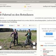 Mit dem Fahrrad zu den Rotmilanen